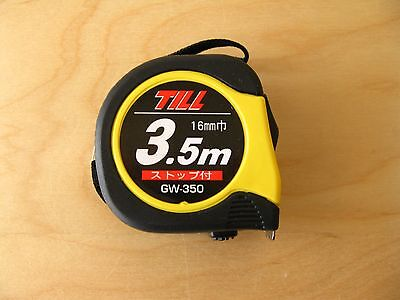 Metric Tape Measure 3.5m x 16mm with white steel tape