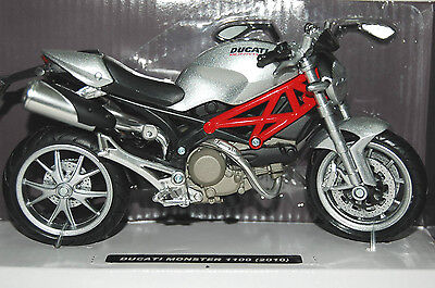 DUCATI  MONSTER  1100  1/12th  MODEL  MOTORCYCLE  SILVER