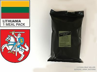 Lithuania Army Ration Pack. Military meals ready to eat (MRE)
