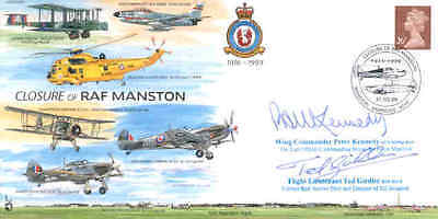 CC60b Closure of RAF Manston cover signed Red Arrows