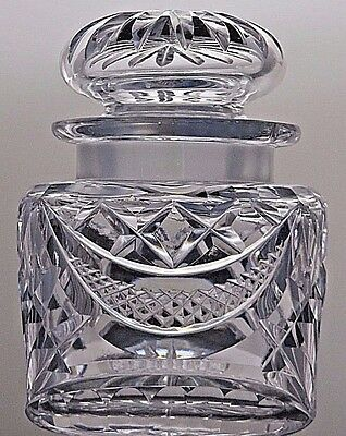 Beautiful Crystal Cut Glass Jam/Preserve/Honey/ Serving Pot Jar & Lid