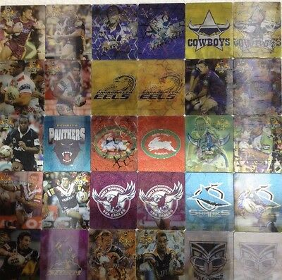 Ultra Rare Complete Set 3D Shattering NRL 2006 Tazos Mint Condition