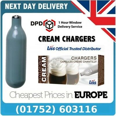 96 x 8g N2O Nitrous Oxide Whipped Cream Chargers Canisters - Free Delivery