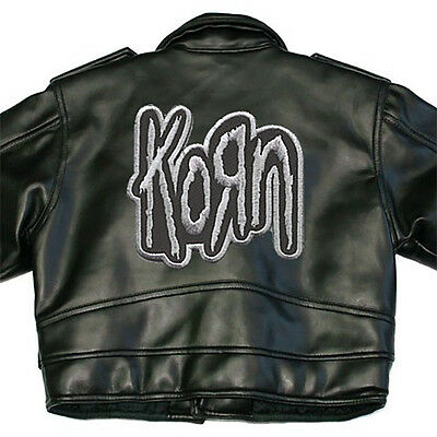Korn X-Large Back Sew On Patch Black Silver Logo Letters New Rare