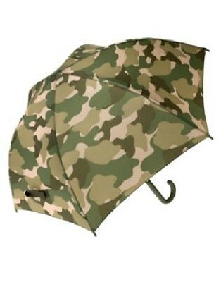 Gymboree Boys' Green Camo Umbrella Camouflage Rain Gear for Boys NEW
