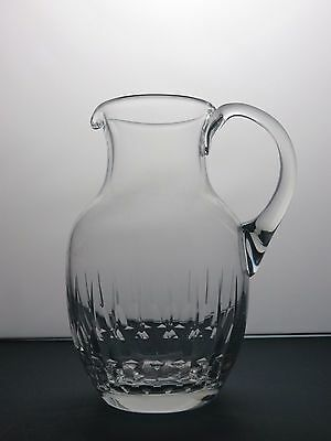 Vintage Beautiful Design Large Heavy Cut Glass Lead Crystal Water Jug
