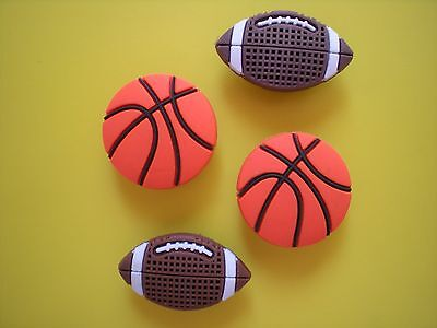 Jibbitz Croc Clog Shoe Plug Charms Basket Ball Football For Bracelet Accessories