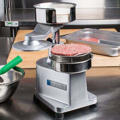 Eurodib Manual 1/2 lb. Hamburger Patty Press with Single-Level Press Handle