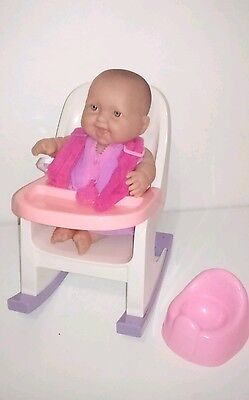 BERENGUER 24cm Baby Doll with Highchair & Potty