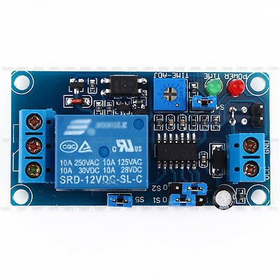 12V DC Delay Relay Turn on / Delay Turn off Switch Protection Module w/ Timer