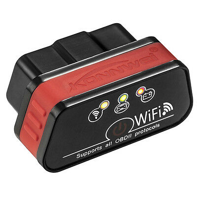 KW903 ELM327 OBD2 OBDII Auto Bluetooth WiFi Diagnostic Scanner Tool iOS Android