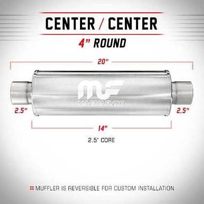 """New Magnaflow Universal Stainless Steel Muffler 10416 2.5""""Inlet/Outlet Fast Ship"""