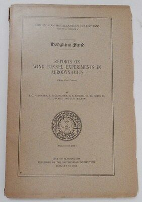 1915 Reports on wind tunnel experiments in aerodynamics PLATES MIT Curtiss plane