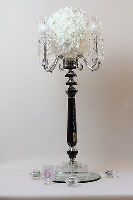 5 arm Black Crystal Candelabra (ZT108)