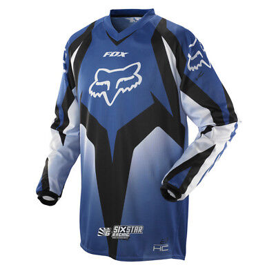 Fox Racing HC 180 Race Blau Motocross Jersey Trikot Enduro Downhill Off-Road
