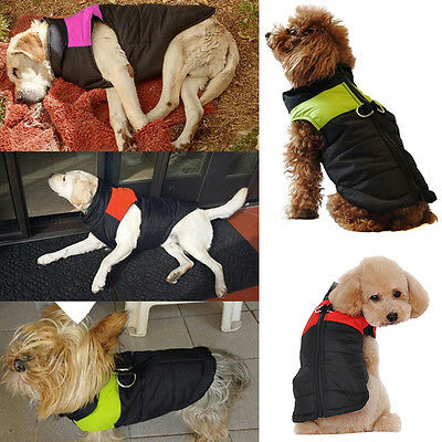 Waterproof Coat Pet Small Dog Puppy Thick Jacket Clothes Christmas Warm Apparel