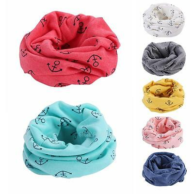 New Winter Warm Boys Girls Collar Baby Scarf Children Anchor O Ring Neck Scarves