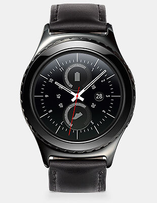 Samsung Gear S2 CLASSIC Black Bluetooth Wifi IP68 Smartwatch compatible Android*
