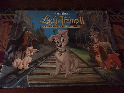 LADY AND THE TRAMP 2 SCAMP'S ADVENTURE Disney Store Presale Lithograph