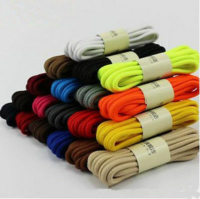 1pair Popular Round Canvas Boot Sneaker Shoes Shoelaces Laces Long String Rope
