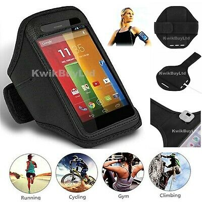 Black Sports Running Jogging Gym Cycling Armband Case for Apple iPhone 7 & 8