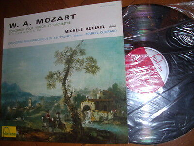 MICHELE AUCLAIR Violin Mozart 1ED French Fontana STEREO LP EXC++ 1967