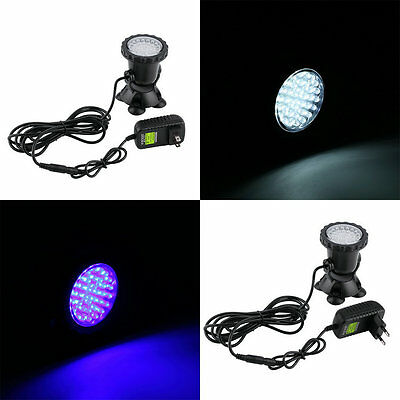 36 LED Submersible Underwater Spot Light Outdoor Garden Pond Fish Tank Lamp SI