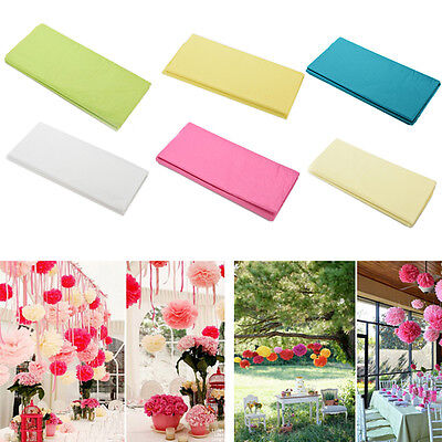 20 Pcs Tissue Paper Wedding Gift Wrapping Paper Copy Kids DIY Crafts 50*66cm