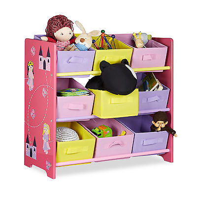 Kids' Shelves Toy Box Children's Toy Chest Girls' Storage Containers Princess