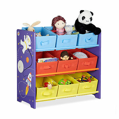 Kids' Shelves Toy Box Children's Toy Chest Boys' Storage Containers Astronaut