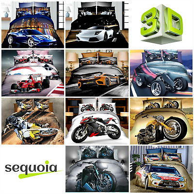 3D Effect Photo Car Football Basketball Rugby F1 WRC Bedding Sets Pillowcases