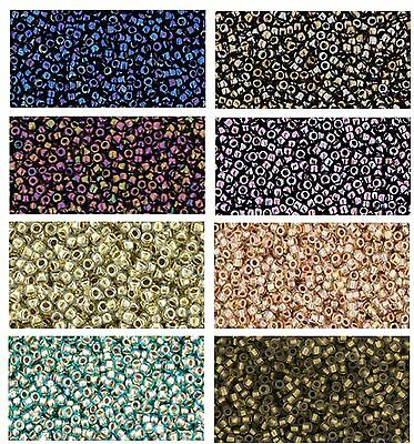 TOHO Metallic / Gold Line Japanese Seed Beads size 15/0, choose colour - 5 grams