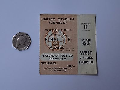 Original WORLD CUP 1966 FINAL Ticket (England v West Germany)