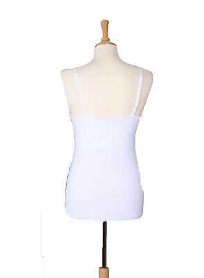 WHITE BREASTVEST Breast Feeding/Nursing Vest Maternity Bra SIZE LARGE UK 14-16