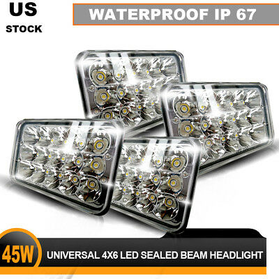 New DOT LED Sealed Beam Headlights For FREIGHTLINER FLD 120 FLD 112 (4x) LE