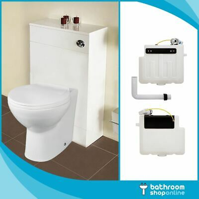 Modern Ceramic Toilet Pan Back to Wall BTW WC Pan Soft Close Seat & Cistern
