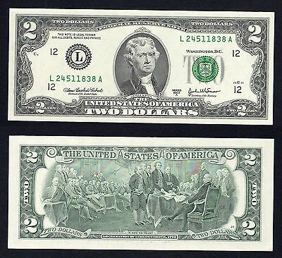 2 $ Dollari Federal Reserve Note 2013 FDS/UNC