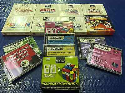 Huge Karaoke Cd+G Collection (Mostly Sealed - 1000+ Songs)
