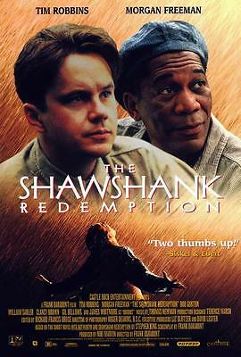 The Shawshank Redemption Movie POSTER 27 x 40 Tim Robbins, B, LICENSED NEW