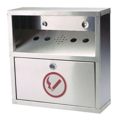 Sterling Steel Wall Mounted Ash Bin | SB041S