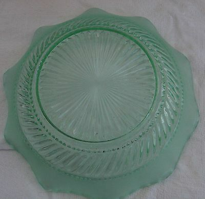 Uranium glass bowl