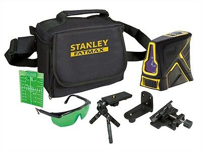 Stanley INT177348 Green Beam X Line Self Levelling Laser with Thread  Mounts New