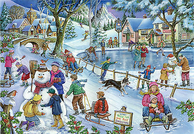 House Of Puzzles 1000 PIECE JIGSAW PUZZLE - Frosty & Friends Find The Difference