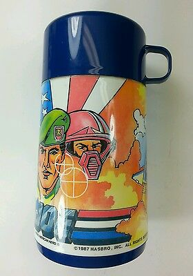 G. I. JOE Plastic Thermos -1987 Hasbro-Complete with stopper and cup.