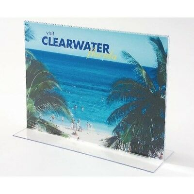 Deflecto Stand Up Sign Holder A4 Landscape Clear