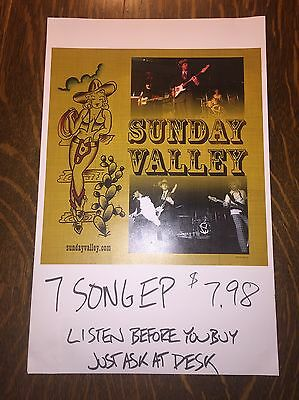 SUNDAY VALLEY 2004 Promo Poster Sturgill Simpson FREE SHIPPING