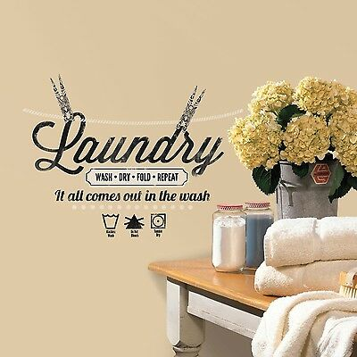 RoomMates RMK2743SCS Laundry Quote Peel and Stick Wall Decals New Free Shipping