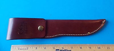 CASE XX SMOOTH DARK BROWN LEATHER SHEATH FOR FIXED BLADE KNIFE (d)! STIDHAM