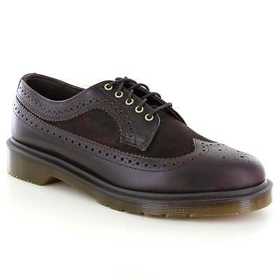 Dr Martens 3989 Mens Leather and Suede Brogue Shoes Dark Brown