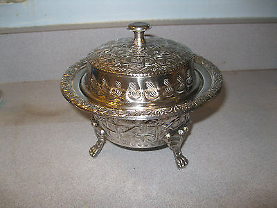 Islamic Arabic Silver and Copper Lidded Bowl